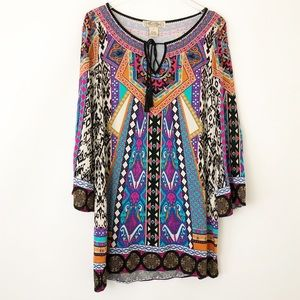 Flying Tomato Boho Tunic Mini Dress